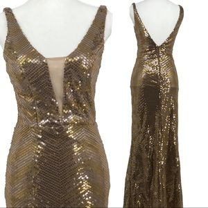 City studio full length sequin gown NWT